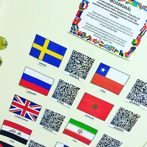 QR-koder med hej på olikaspråk.