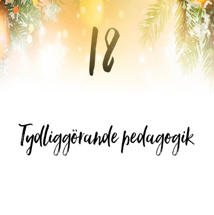 18.Tydliggörande pedagogik